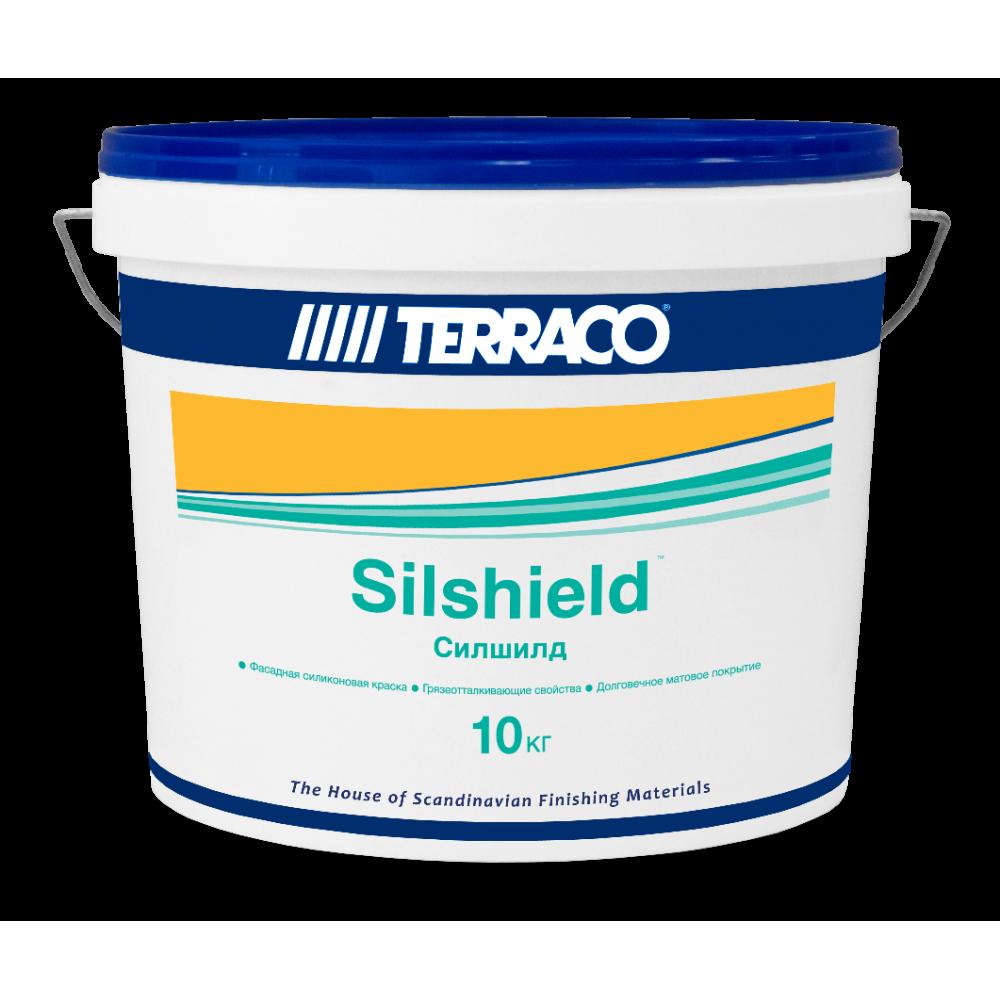 Cиликоновая краска для отделки поверхностей с пористой структурой Terraco (Силшилд) 10кг