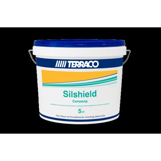 Cиликоновая краска для отделки поверхностей с пористой структурой Terraco (Силшилд) 5кг