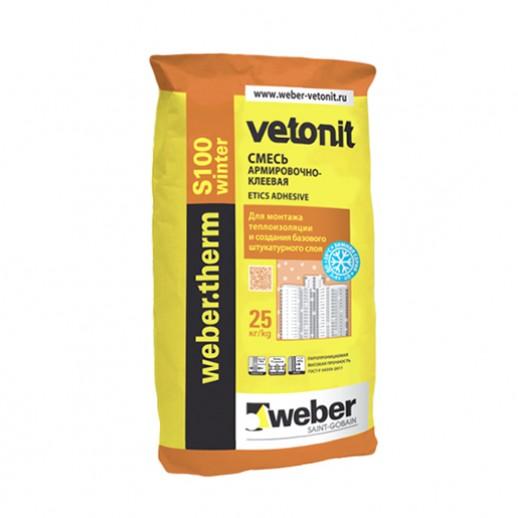 Клеевой состав для приклейки теплоизоляции Weber 25 кг